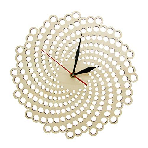 yage Relojes de Pared de Madera en Espiral, decoración Elegante para el hogar, Reloj Minimalista Moderno, Arte de Pared Abstracto, Reloj de Pared Colgante, Regalo de inauguración de la casa