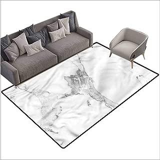 Anti-Slip Coffee Table Floor Mats Marble,Hazy Natural Texture 60