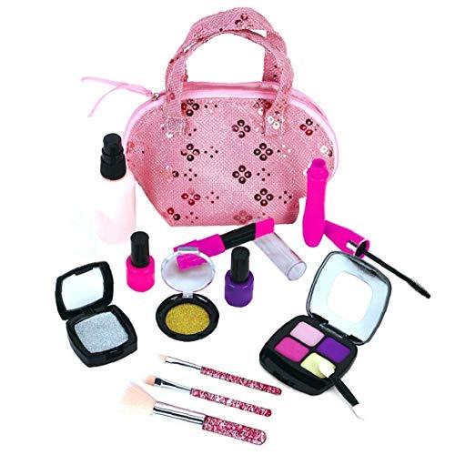 Pretend niños Kit de Maquillaje, Maquillaje de Moda Maleta cosméticos Juguetes para niñas pequeñas