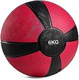 POWRX - Balón Medicinal 6 kg + PDF Workout (Violeta)