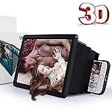 Lupa De Teléfono Móvil con Pantalla 3D, Amplificador De Pantalla HD Retráctil para Teléfonos...