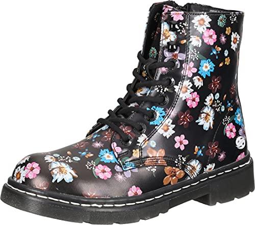 DOCKERS BY GERLI Damen 45TS201-600193 Ankle Boot, schwarz/orange, 39 EU