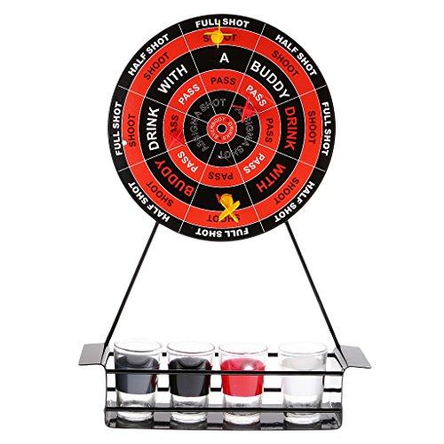 chiwanji Trinkspiel Für Erwachsene Board Darts & Schnapsgläser Set Geschenke