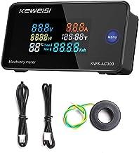 Romacci AC50-300V Voltímetro Digital Amperímetro Potência Corrente Tensão Temperatura Umidade Dispositivo de medição 10A /...