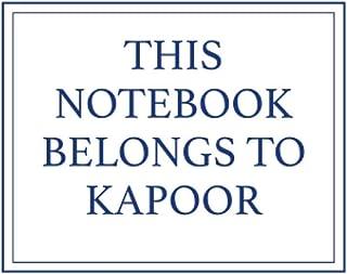 This Notebook Belongs to Kapoor