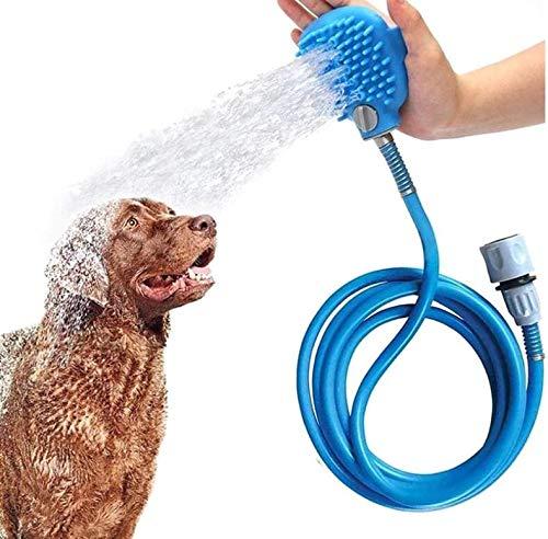XZHFC Mascotas Herramienta De Baño Ducha Rociador De Agua 8.2 Pies Bañera De Baño Scrubber Perro Al Aire Libre Lavado Masaje De Aseo Eliminar El Cabello para El Perro Cat Horse