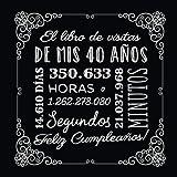 El libro de visitas de mis 40 años: Decoración vintage para el 40 cumpleaños – Regalos originales para hombre y mujer - 40 años - Libro de firmas para felicitaciones y fotos de los invitados