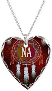 CafePress - 2-NA INDIAN - Charm Necklace with Heart Pendant