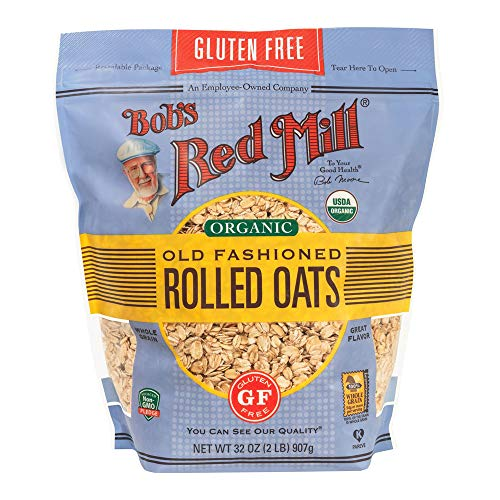 Bob's Red Mill Gluten Free Organic Old Fashioned Rolled Oats, 2 Pound...