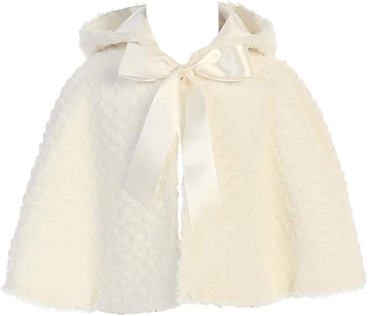 dPois Girls Faux Fur Flower Girl Bolero Shrug Cardigan Coat Wedding Bridal Party Prom Dress Jacket