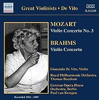 Mozart/Brahms:Violin Ctos
