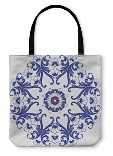 Gear New Shoulder Tote Hand Bag Ornamental Round Floral Pattern 16x16 3315065GN