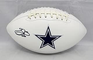 Emmitt Smith Autographed Dallas Cowboys Logo Football- Beckett Authenticated