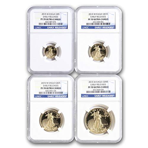 2015 W American Gold Eagle 4-Coin Set PF70UCAM