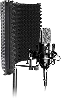 OurLeeme Escudo de aislamiento de micrófono, Panel de grabación vocal con absorción de..