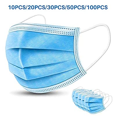 Medog 50Pcs Disposable Face ???????????????? Anti-Dust Filter Face ????????????????, 3 Layers of Purifying (50PCS)