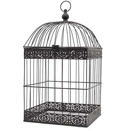 L'ORIGINALE DECO Grande Cage Oiseaux Bougie Carré Marron 62 cm x 34 cm x 34 cm