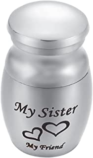 Mini Cremation Urns My Dad My Hero My Angel Heart Mini Funeral Urn for Ashes Keepsake Small Size 25mm15mm My Sister My Fri...