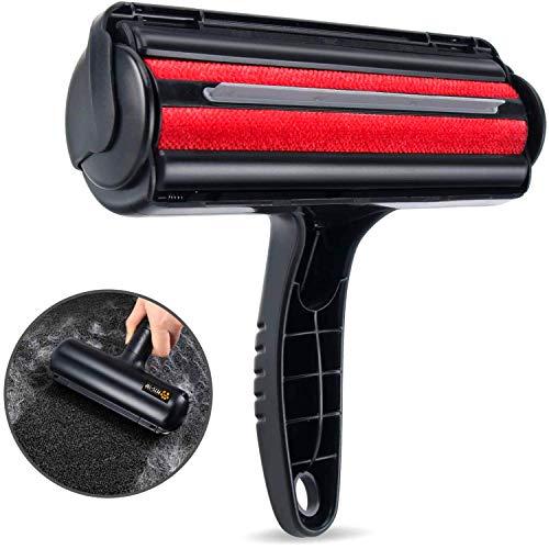 Cepillo electrostático, pelo largo para mascotas, recogida, limpieza, limpieza de ropa, sofá, coche, cama, alfombra con Roller Clean + mejor que un rollo adhesivo