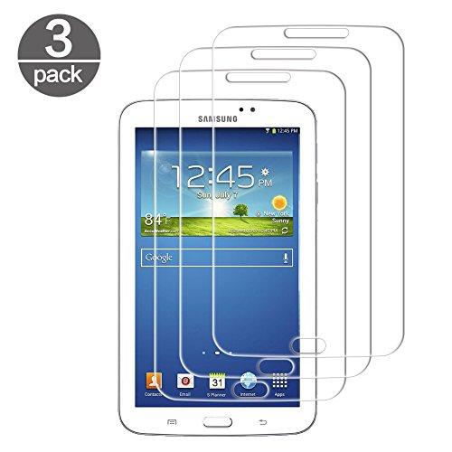 3x Samsung Galaxy Tab 3 7.0 SM-T210 T211 Schutzfolie, Panzerglas für Samsung Galaxy Tab 3 7.0 SM-T210 T211 Ultra-klar Gehärtetem Glas Schutzglas Displayschutzfolie 9H Härte, Anti-Kratzen, Transparent
