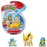 Figura de Batalla Pokemon 3 Pack – Jolteon, Squirtle & Munchlax, PKW0047...