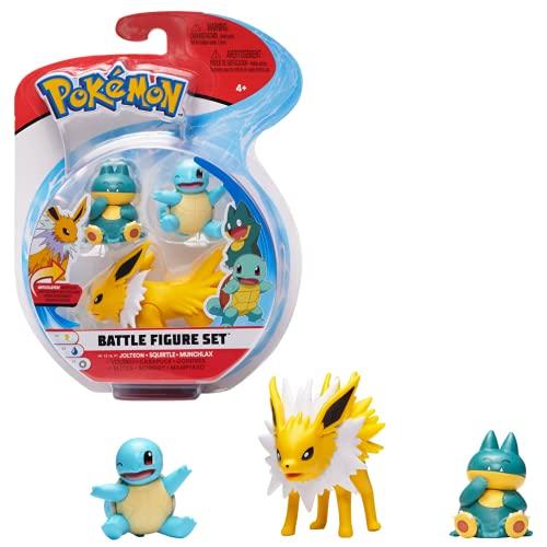 Figura de Batalla Pokemon 3 Pack – Jolteon, Squirtle & Munchlax, PKW0047