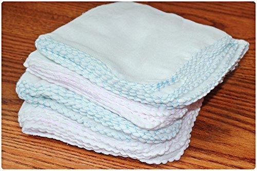 dealglad® Lot de 10/Lot Double 100% gaze gaze Mouchoir enfant nouveau-né bébé serviette serviette salive serviette enfants Allaitement Biberon Face Bain Mouchoir (couleur aléatoire)