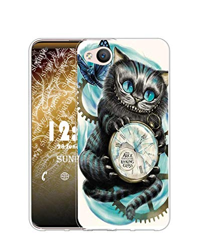 Sunrive Kompatibel mit ZTE Nubia Z9 Mini Hülle Silikon, Transparent Handyhülle Schutzhülle Etui Hülle (Q Katze 2)+Gratis Universal Eingabestift MEHRWEG
