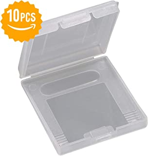 10pcs Gameboy Game Case - Clear White Game Cartridge Protection Case Storage Box for Gameboy Color GBC GB GBP