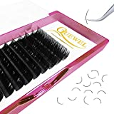 Eyelash Extensions 0.07 C Curl 17mm Individual Lashes Classic Tray Handmade Soft Natural Matte Black|Optinal 0.03/0.05/0.07/0.10/0.15/0.20 C/D Single 6-18mm Mix 8-15mm|(0.07 C 17mm)