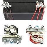Abrazadera de la manguera Los terminales de la batería de coche Automotive cable de alambre de la abrazadera Conectores Kit, conveniente for el coche automotor de la batería (1 par)