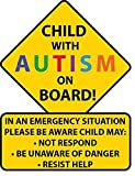 STICKY DUDE | Child with Autism Awareness Car Truck Decal Sticker. Alert Responders
