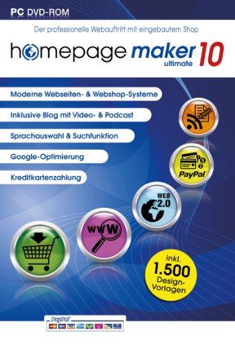 homepage maker 10 ultimate. Für Microsoft Windows 8, 7, Vista (jeweils 32- oder 64-Bit, XP (SP2 oder höher)