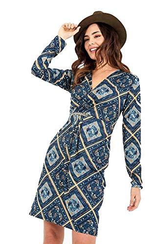 Smash! A198246 - Vestido para Mujer, Color Azul, Morado