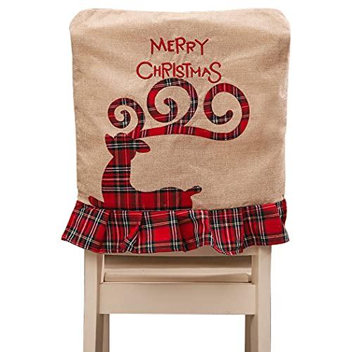Funda de silla de Navidad decorativa para silla festiva de comedor