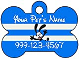 Oswald The Lucky Rabbit Pet Id Dog Tag Personalized w/ Name & Number