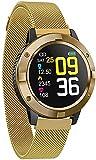 Smart Watch Q10 Pressione sanguigna e cardiofrequenzimetro Moda Fitness Tracker Bluetooth Sport Bracciale per Android iOS (Colore: A) (E)