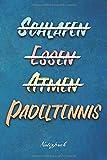 Padeltennis: Ein Notizbuch für Padeltennisspieler und Padeltennisspielerinnen | 120 karierte Seiten für deine Notizen | Geschenk für Padeltennisfans | 6x9 Format (15,24 x 22,86 cm)