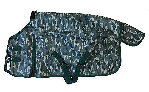 AJ Tack Wholesale Pony Horse Turnout Blanket 1200D Water Proof 300g Fill Medium Weight Camouflage 58