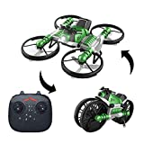 YEIBOBO ! 2-in-1 Transforming Motorcycle and 2.4G RC Quadcopter Drone with Altitude Hold Function (Green)