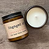 Engaged AF Infused With The Same Penis Forever | Premium Soy Wax Candle | The Malicious Mermaid | Amber Jar Candle | Made in USA | Snarky Candles | Scented Candles For Women And Men