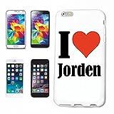 Reifen-Markt Hard Cover - Funda para teléfono móvil Compatible con Samsung Galaxy S6 Edge I Love Jorden