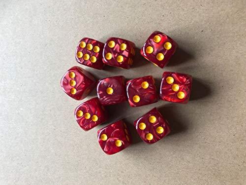 MoonyLI Würfel Set - Spielwürfel für Tischkartenspiele, Würfel Bunt Set 6-Seitig, 50 Stck 5 Farben