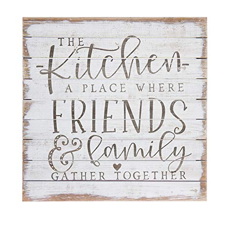Simply Said, INC Perfect Pallets - Friends & Family Gather Together, 14 x 14 in Wood Sign PAL1315