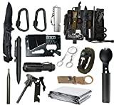 Gifts for Men Dad Husband Boyfriend, Survival Gear and Equipment 15 in 1, Birthday Christmas Valentines Day Gift Ideas for Teen Boy, Emergency Camping Hiking Hunting Fishing Survival Kit (Model 01)
