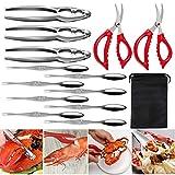 Seafood Tools Set de herramientas de cangrejo, langosta de acero inoxidable, abridor de te...