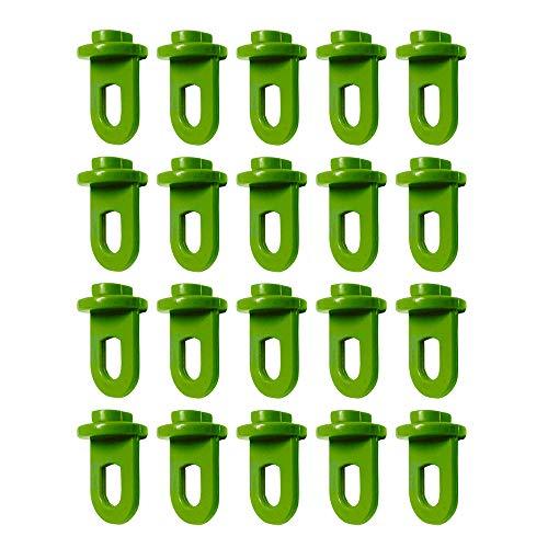 G-More 50 Piece Gewächshausclips - Stabile Aufhängevorrichtungen Ösen für Gewächshaus, Perfekte Rankhilfe Clips für Ihr Paradies