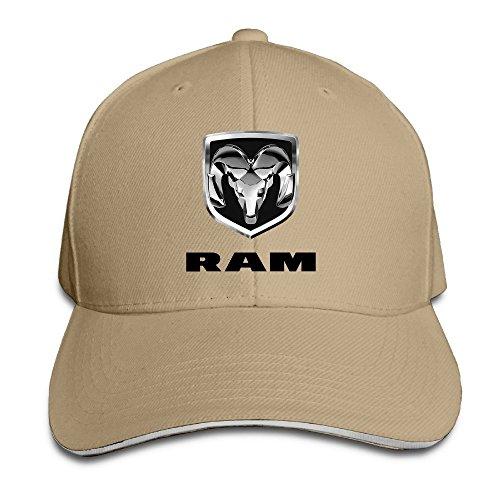 Hittings Bang Dodge Ram Logo Sandwich Baseball Cap Hats Natural