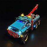 Leic Kit de iluminación LED Building Block, Caja de batería, Juego de Luces con alimentación para Lego 42070 Technic 6x6 All Terrain Tow Truck (LED Incluido Solo, sin Kit Lego)