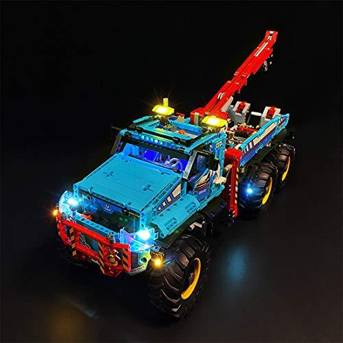 POXL Kit LED Iluminación para Lego Camión Grúa Todoterreno 6 x 6 - LED Luces Luz para Lego 42070 - Juego de Lego no Incluido